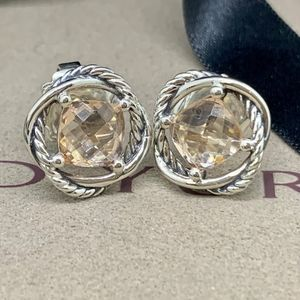 David Yurman Infinity Earrings Morganite